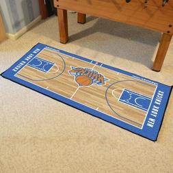 """New York Knicks Area Rug Court Runner Basketball Mat 29"""" x 5"""