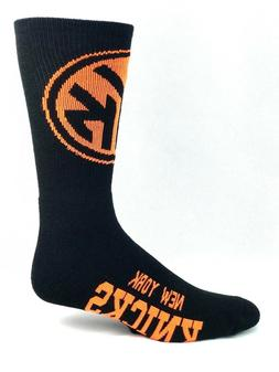 New York Knicks Basketball Black & Neon Half & Half Logo Cre