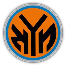 New York Knicks Basketball Car Bumper Sticker Decal - 3'' or