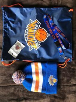 New York Knicks Beanie, Phone Holder, Lanyard & Drawstring B