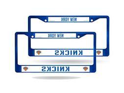 New York Knicks Blue Painted Chrome Metal  License Plate Fra