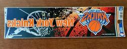New York Knicks Bumper Sticker  NBA Auto Car Truck Decal 8.5