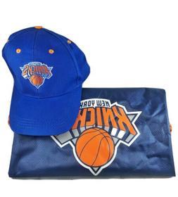 New York Knicks Cap And Drawstring Book Bag