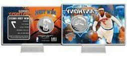New York Knicks Carmelo Anthony Coin Card - Silver Stad