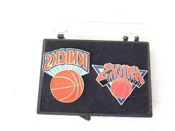 NEW YORK KNICKS Collectors Pins Set of 2 Styles With FREE Ca