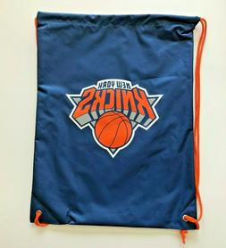 New York Knicks Drawstring Bag Logo Heavy Duty Backpack New