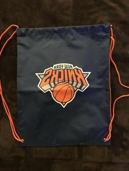 New York Knicks Drawstring Bag Logo Heavy Duty Thick Backpac
