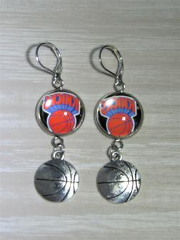 New York Knicks Sterling Silver Earrings made from Recycled