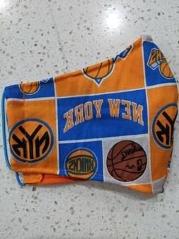 New York Knicks Fabric Face Mask - Filter pocket, Cotton mas