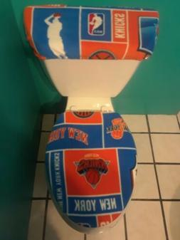 NEW YORK KNICKS FLEECE TOILET SEAT COVER SET clearance SALE