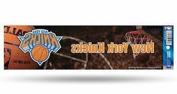 New York Knicks Glitter Bumper Sticker  NBA Auto Car Truck D