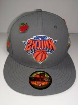 New York Knicks New Era Gray 59FIFTY Fitted Size 7 1/2 Hat &