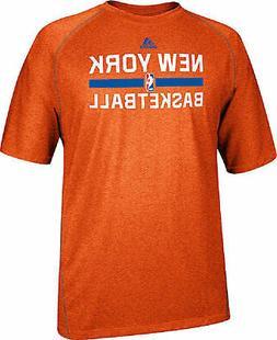 New York Knicks Heather Orange Climalite Practice Short Slee