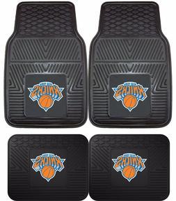 New York Knicks Heavy Duty NBA Floor Mats 2 & 4 pc Sets for
