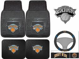 New York Knicks Heavy Duty Vinyl Car Mats - Set of 2