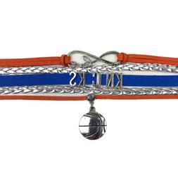New York Knicks Infinity Jewelry Bracelet Basketball Charm F