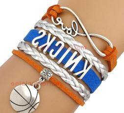 New York Knicks Infinity Jewelry Bracelet NBA Basketball Cha