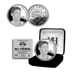 New York Knicks Jeremy Lin Silver Plated Medallion in a Gift
