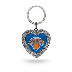 New York Knicks Keychain Rhinestone Heart Rico NBA