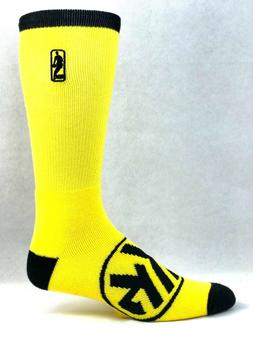 New York Knicks Men's Electric Yellow NBA Crew Socks