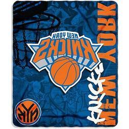 "New York Knicks NBA Northwest 50""x60"" Hard Knocks Fleece Thr"
