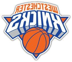 """New York Knicks   NBA Basketball Car Bumper Sticker Decal """"S"""