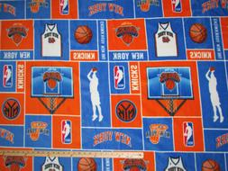 "New York Knicks NBA Basketball Fleece Fabric   62""    KNICKS"