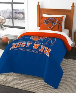 New York Knicks NBA Basketball Twin Comforter & Pillow Sham