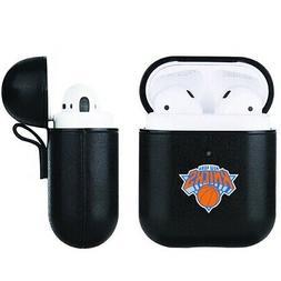 New York Knicks NBA Fan Brander Black Leather AirPod Case