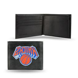 New York Knicks NBA Embroidered Leather Billfold Wallet NEW