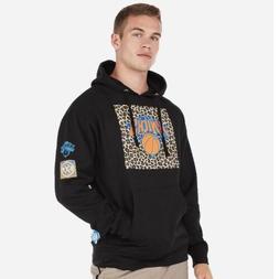 Express New York Knicks NBA Fleece Hoodie Hooded Sweatshirt