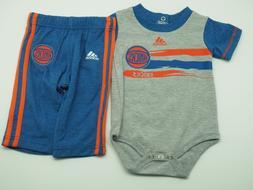 New York Knicks Adidas NBA Infant Creeper and Bottoms 2 Piec