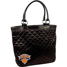 New York Knicks NBA Licensed Black Quilted Tote Bag