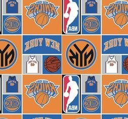 "New York Knicks - NBA RP 1/4YD 9""x43"" 100% Cotton Fabric"