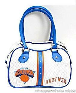 New York Knicks NBA White Ethel Bowler Handbag Bag Purse Cas