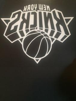 NEW YORK KNICKS NBA WHITE VINYL STICKER / DECAL