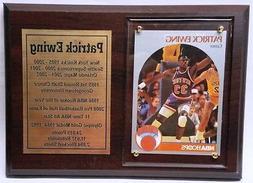 New York Knicks Patrick Ewing Basketball Card Plaque