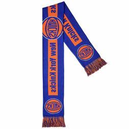 New York Knicks Scarf Knit Winter Neck - Double Sided Big Te