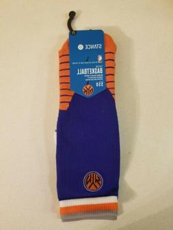 STANCE New York Knicks Socks NBA Basketball Blue Men's Size