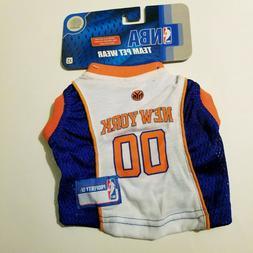 NBA New York Knicks Team Pet Wear Size XS Shirt Jersey
