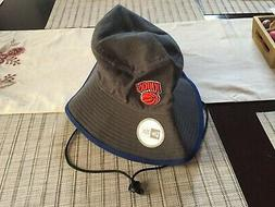 NEW ERA NEW YORK KNICKS TIPPED Bucket Hat XL WITH TIES GRAY