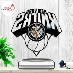 New York Knicks Vinyl Record Wall Clock NBA Basketball Kids