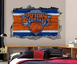 New York Knicks Wall Art Decal 3D Smashed Basketball NBA Wal