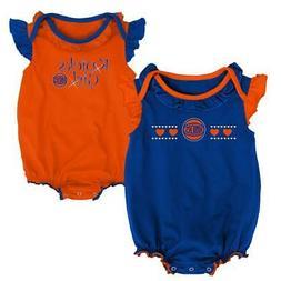 New York NY Knicks Creeper 2 Pack Homecoming Bodysuit Set