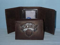 New York NY KNICKS    Leather TriFold Wallet    NEW    dark