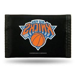 New York NY Knicks NBA Nylon Trifold Wallet