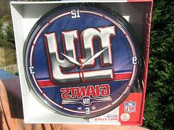 NFL New York Giants Wincraft Round Wall Clock New & Sealed I