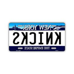 Novelty Metal Vanity License Plate Tag Cover - New York Knic