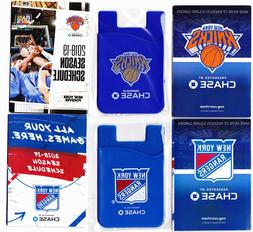 NY KNICKS & RANGERS Silicone Credit Card Sleeve Cell Phone P