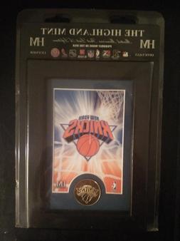 NY Knicks NBA Officially Licensed Framed Art & Bronze Coin N